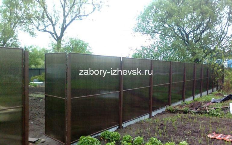 изготовление заборов из поликарбоната в Ижевске