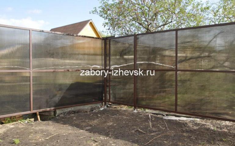 забор из поликарбоната в Ижевске
