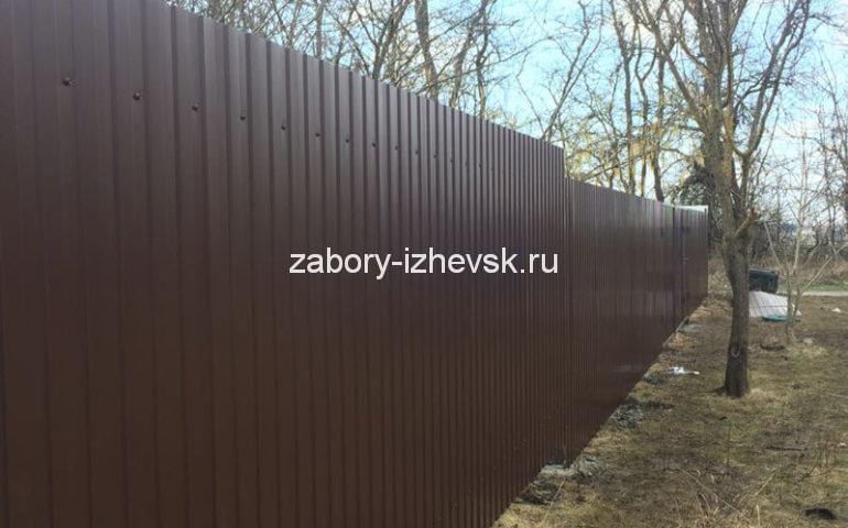 забор из профлиста в Ижевске